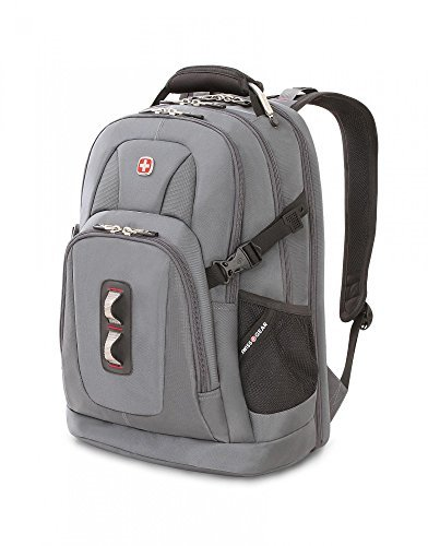 SwissGear ScanSmart Backpack Grey Tin/ Red
