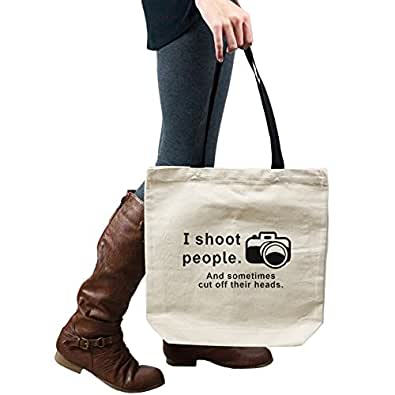 I Shoot People And Cut Off Their Heads Funny Photographer Camera Tote Handbag Shoulder Bag Purse
