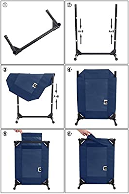 Veehoo Elevated Dog Bed, Portable Raised Pet Cot, Waterproof & Breathable Mat, No-Slip Feet, Durable 1680D Oxford Fabric, Indoor or Outdoor Use