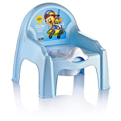 2-in-1 potje peuters Potty Baby toilettrainer kinderen leren toiletbril (blauw)