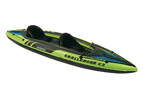 Intex Challenger K2 Kayak, 2-Person Inflatable Kayak Set with Aluminum