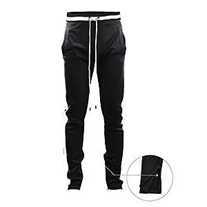 Screenshotbrand Mens Hip Hop Premium Slim Fit Track Pants – Athletic Jogger Bottom with Side Taping