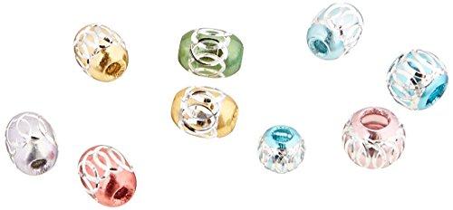 (Linpeng AB-090215 100 Piece Assorted Aluminum Beads)