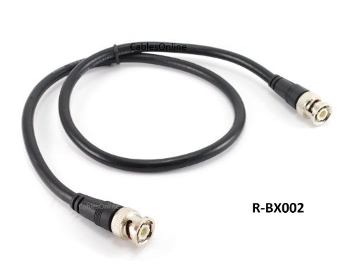 CablesOnline 2ft High-Quality RG8x Coax 50 OHM BNC Male/Male Antenna Cable (R-BX002) -