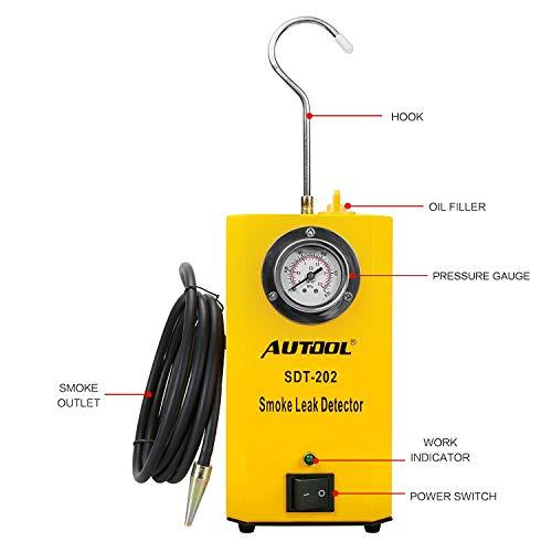 AUTOOL SDT 202 12V Automotive Fuel Leak Detectors with Pressure Gauge by AUTOOL (Image #1)
