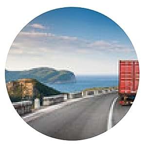 alfombrilla de ratón camión de carga en la carretera de montaña con el cielo azul y el mar - ronda - 20cm