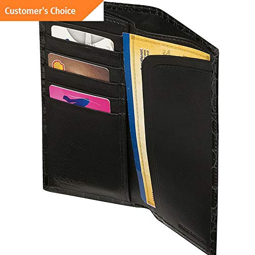 c3dba56f0479 Amazon.com: Sandover Budd Leather Crocodile Bidente Slim Secretary 3 ...