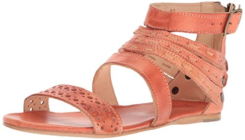 Bed|Stu Women's Artemis Flat Sandal, Coral Rustic, 8 M US by Bed|Stu
