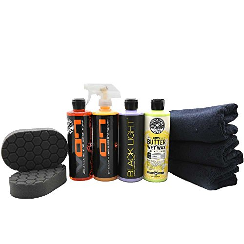 Chemical Guys HOL203 Black Car Care Kit (9 Items) (Glaze Foam Dark)