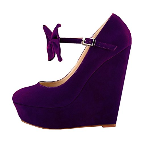 EKS - Zapatos de Tacón Mujer Morado - morado