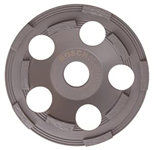 Bosch DC500 5-Inch Diamond Cup Grinding Wheel for Protective Coatings