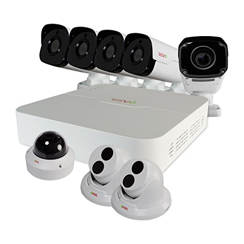 REVO America RUP81BNDL-1 Ultra 4 Megapixel Night Vision 2TB NVR Surveillance System, White
