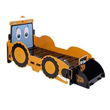 KIDSAW JCB DIGGER TODDLER BED WITH A FOAM MATTRESS FROM CENTURION