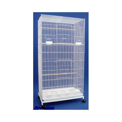 "UPC 627837484393, Extra Large Pet Products Flight Cage With Stand *30""Length x 18""Depth x 55""Height *White*"
