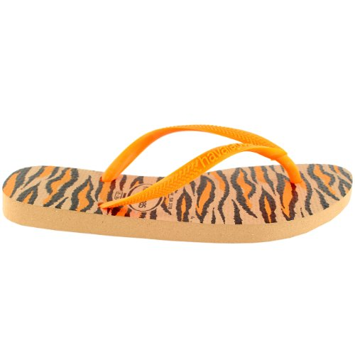 Playa Rose Animals Plage Havaianas Nouveau Slim Tongs Or Sandale Femmes Fluo XaEwzxqAA