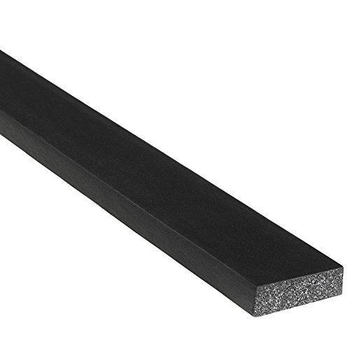 "Trim-Lok Solid Rectangle Rubber Seal – EPDM Foam Rubber Seal with High Tack (HT) Adhesive – Door & Window Weather Seal for Your Home, Car, Truck, RV or Boat – .25"" Height, .75"" Width, 500' Length by Trim-lok"