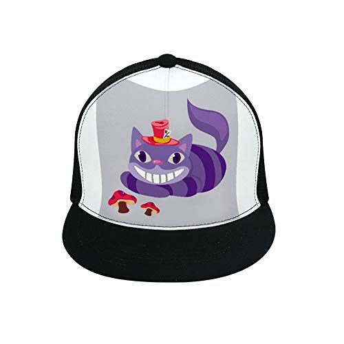 Uclipers Cheshire Cat Baseball Cap All Cotton Made Adjustable Fits Men Women Low Profile Black Hat]()