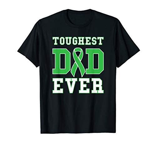 Toughest Dad Ever - Bile Duct Gallbladder Cancer Fathers Day T-Shirt