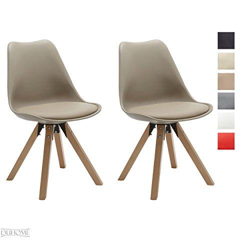 Stuhl Esszimmerstühle Küchenstühle !2 er Set! in CAPPUCCINO Küchenstuhl Holzbeine Sitzkissen TYP9-518M Esszimmerstuhl RETRO Küchenstuhl Farbauswahl