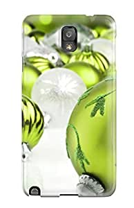 Lkpypaa836owrsZ Tpu Phone Case With Fashionable Look For Galaxy Note 3 - Blue Christmas Ornaments With Star