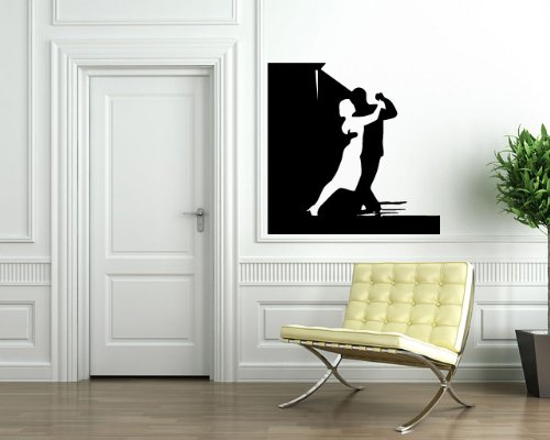 go Dance Studio Entertainment Decor Wall Mural Vinyl Decal Sticker M054 ()