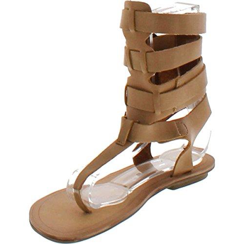 Nude Gladiator Strap 3 Avis Sandal T Liliana Strappy Leatherette Thong Beige Women UWvRZqnq0