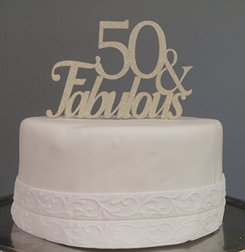 All About Details Gold 50fabulous Cake Topper Cupcake Fanatic