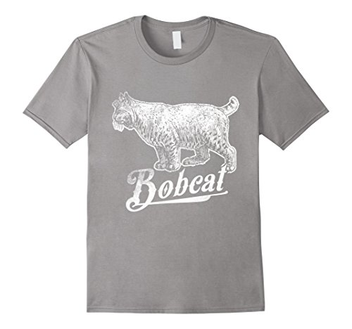 Mens Love Bobcats Funny TShirt Bobcat Lover Gifts Tee Big Cat Large Slate