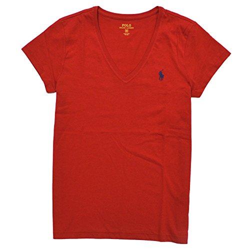 Polo Ralph Lauren Damen VNeck Shirt TShirt rot Größe L ec17eb42ca