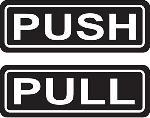 Push Pull Door Sign 2 Quot X6 Quot Sticker Decal Vinyl Business