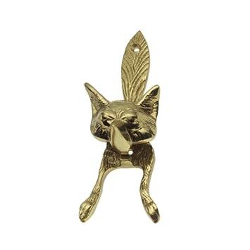 Solid Brass Fox Door Knocker