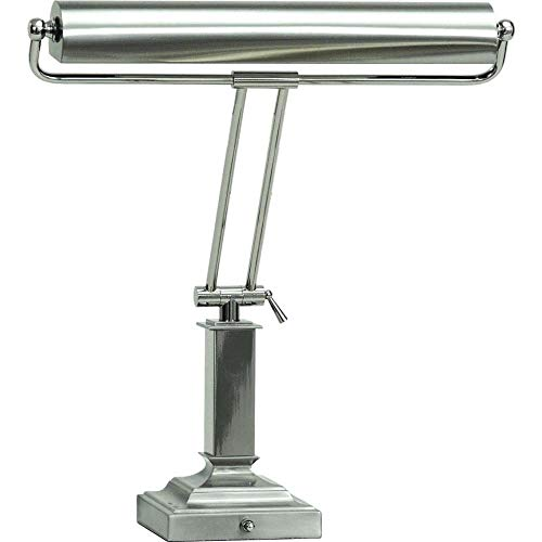 House Of Troy P15-81-5262 18-Inch Portable Desk/Piano Lamp, Satin Nickel with Polished Chrome