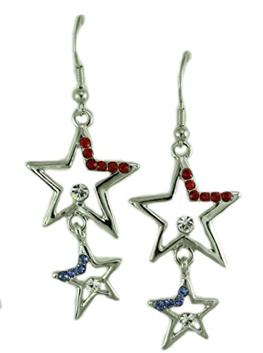 , and Blue Dangling Crystal Stars Earring ()