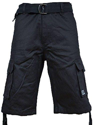 Pro Club Men's TWILL CARGO SHORT PANTS - Charcoal Pants: 36