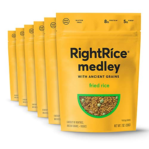 RightRice Medley - Fried Rice (7oz. Pack of 6) - Made from Vegetables - Ancient Grains and More Veggies, Vegan, non GMO, Gluten Free