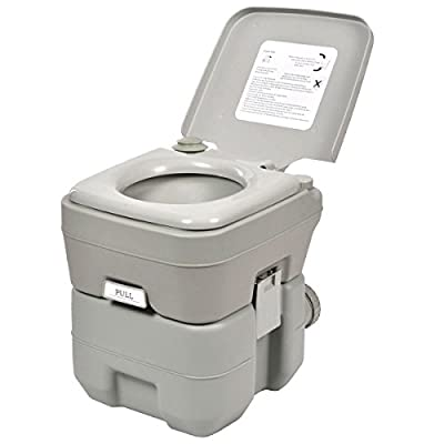 5 Gallon 20L Portable Toilet Flush Travel Camping Outdoor Indoor Commode Potty Camp Gear