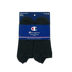 Champion Men's 6 Pack No Show Socks