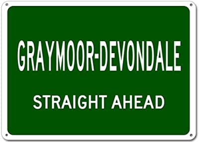 "Personalized Parking Signs GRAYMOOR-DEVONDALE, KENTUCKY Straight Ahead City - Heavy Duty - 12""x16"" Quality Aluminum Sign"