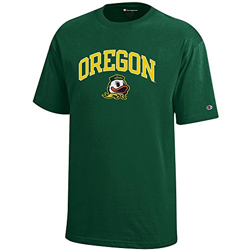 Elite Fan Shop Oregon Ducks Kids Tshirt Arch Green – M