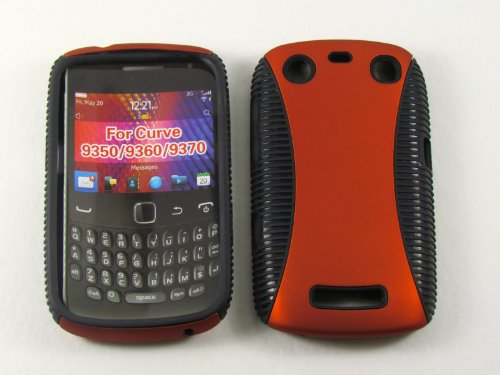 RUBBER EDGE GRIP HYBRID CASE FOR BLACKBERRY CURVE 9370 SNAPHY ORANGE (Blackberry Rubber Faceplates)