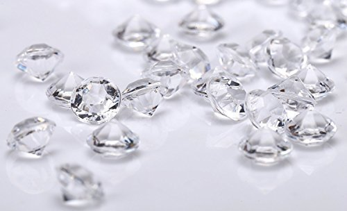 SODIAL 800 Diamond Table Confetti Wedding Bridal Shower Part