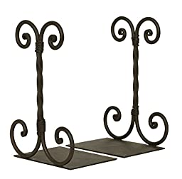 Classic Metal Scroll Bookends. Vintage Style