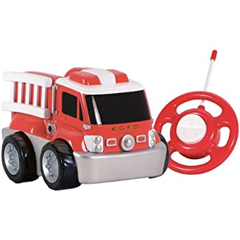 kid galaxy my first rc fire truck toddler remote control toy red 27