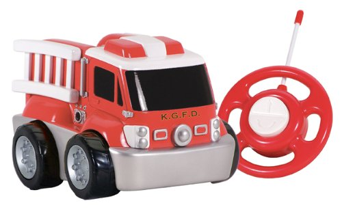 (Kid Galaxy My First RC Fire Truck. Toddler Remote Control Toy, Red, 27 MHz)