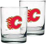 Calgary Flames Rocks Glass Set