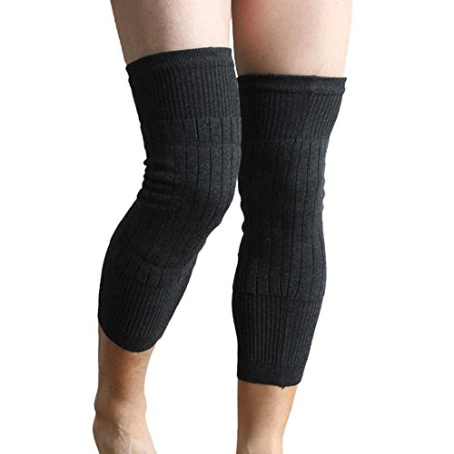 Wool Knee Warmers - UDOARTS Cashmere Knee Warmers(1 Pair)(Grey)