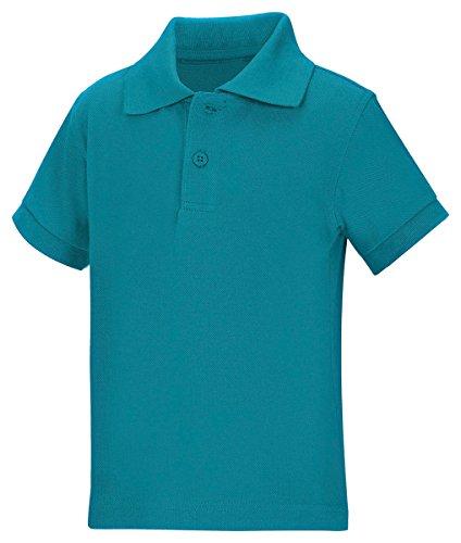(Classroom Uniforms 58990 Toddler's Preschool SS Pique Polo Teal Size 2T)
