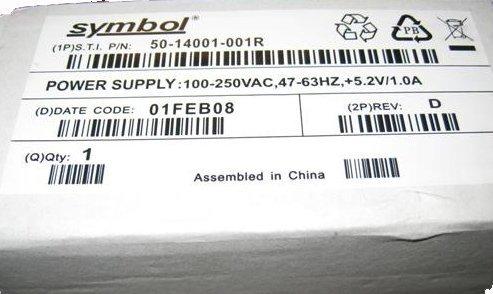 50-14001-001 Motorola Symbol AC Power Adapter for Barcode Scanner - 001 50