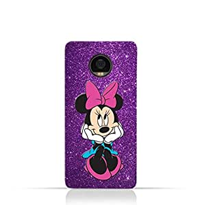 Motorola Moto Z2 Play TPU Silicone Case with Minnie Mouse Lovely Smile Design