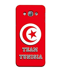 ColorKing Football Tunisia 02 Red shell case cover for Samsung A8